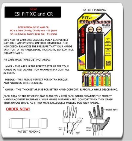 Gripy ESI Fit XC, 65g - Různé barvy